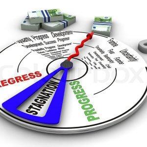 Что означает слово стагнация по отношению к рынку, экономике, рублю