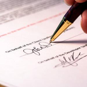 Подписание гражданско-правового договора