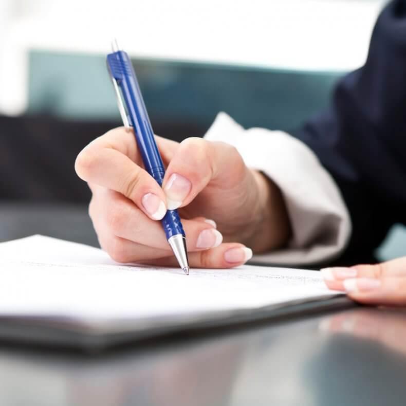 Подписание акта осмотра территории