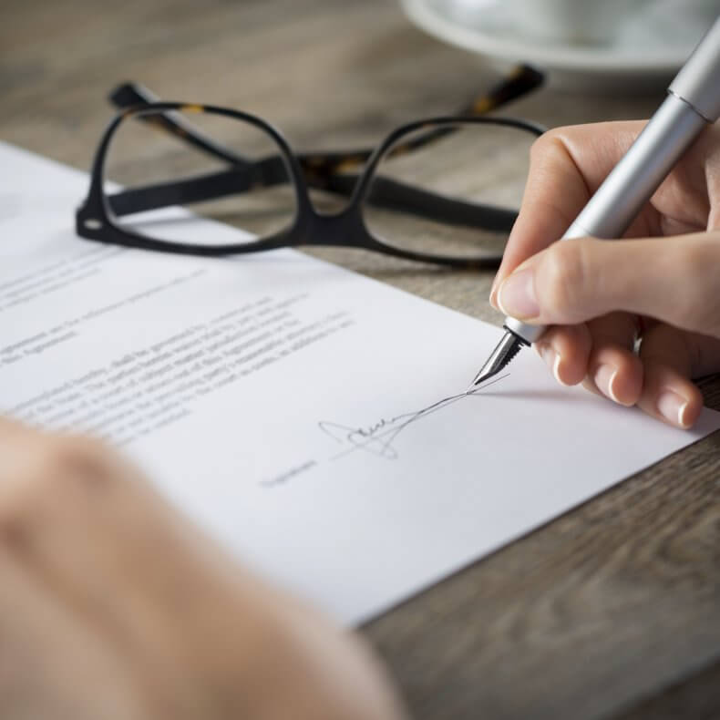 Подписание заявления на зачет
