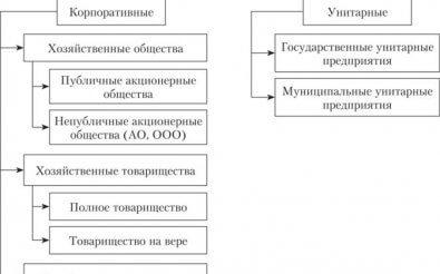 Формы бизнеса России