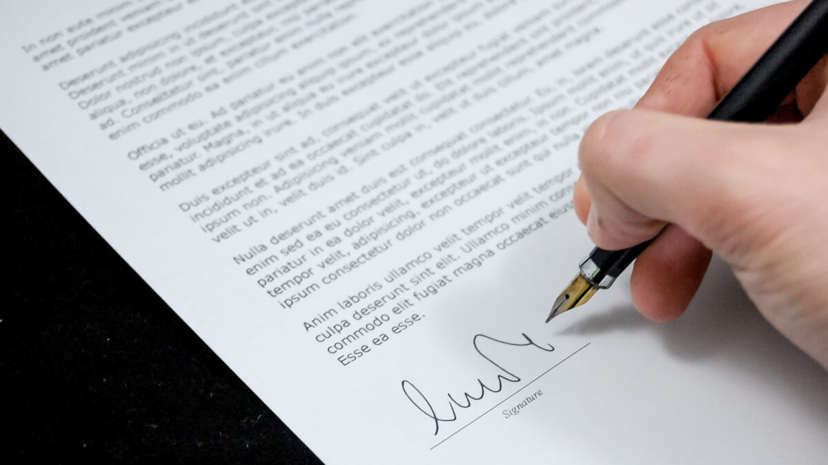 Подписание договора сторожем