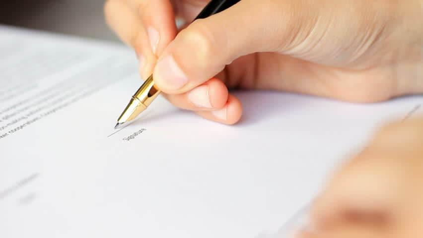 Подписание договора подряда