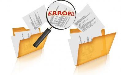 Найдена ошибка в документах