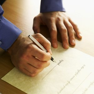 Подпись доверенности