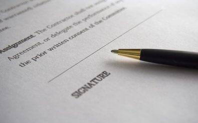 Подпись на заявлении