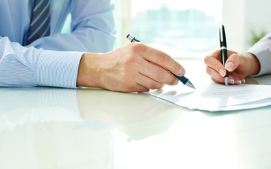 Подписание документа членами комиссии