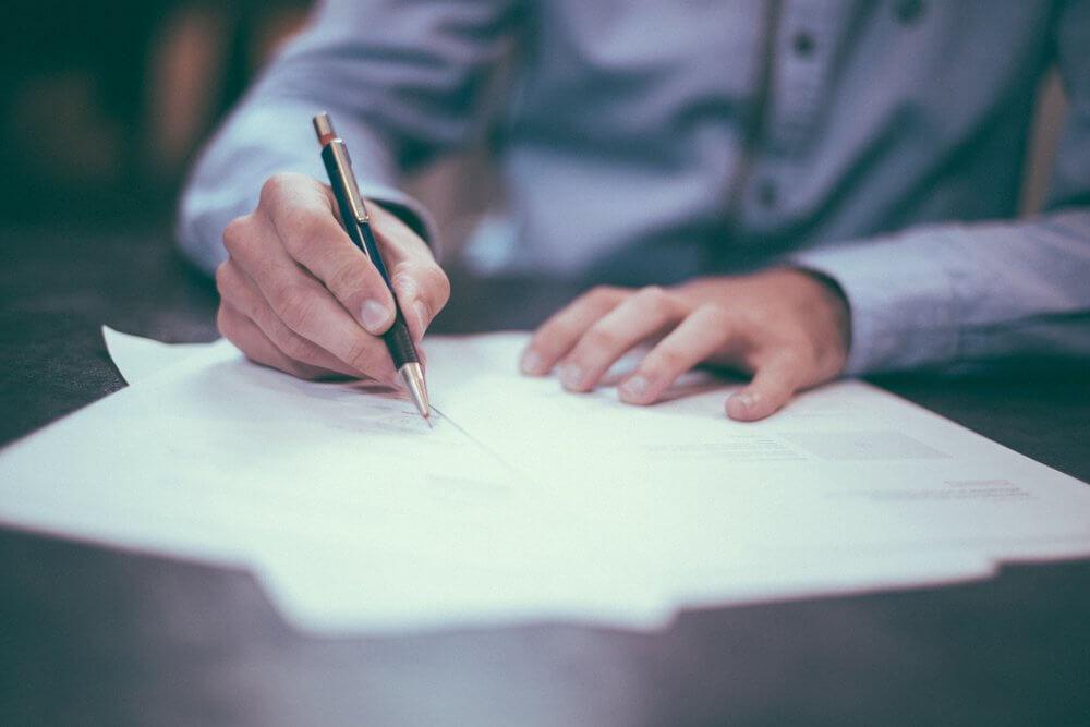 Заполнение формы документа