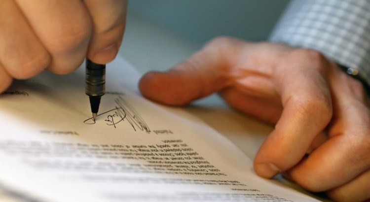 Подписание письма