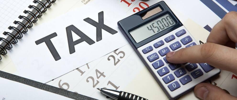 Расчет налогов за минусом вычетов