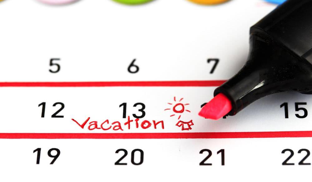 Расчет дней отпуска