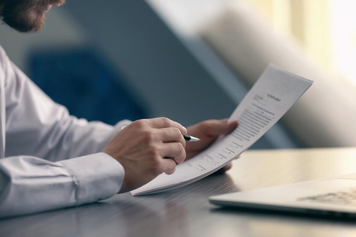 Изучение документа сотрудником